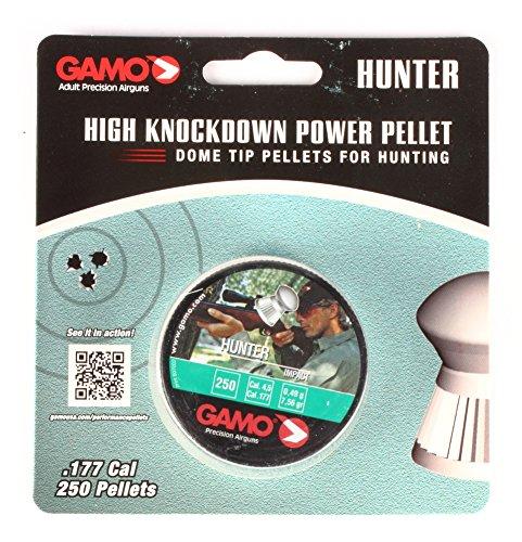 Gamo Hunter 6320824BL54 Round Nose Pellets 0.177cal w/250 C