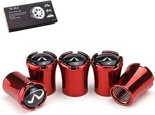 TK-KLZ 5Pcs Metal Car Wheel Tire Valve Stem Caps for Infiniti Q50 FX35 FX37 F50 G37 QX70 QX60 EX35 G35 Decorative Accessory