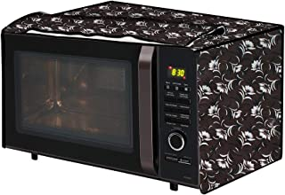 The Furnishing Tree Microwave Oven Cover for IFB 20 L Convection 20SC2 Floral Pattern Dark Brown