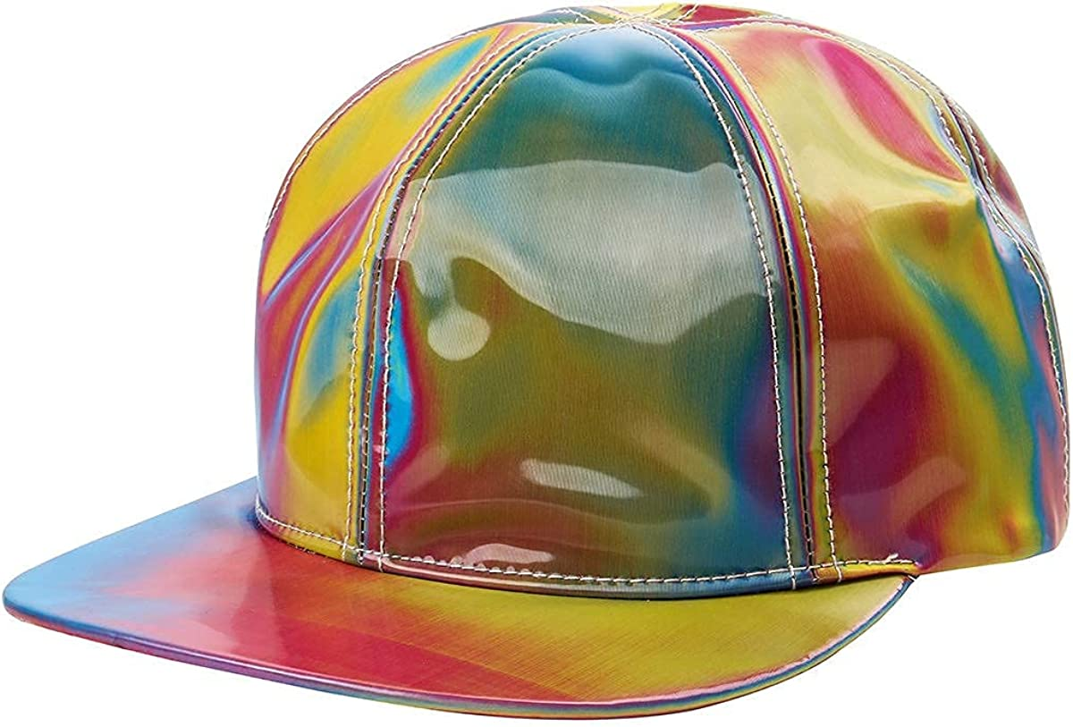 LOADREAM Marty McFly Hat Replica Future Baseball Cap Curved Bill Rainbow Cosplay Cap Shining Adjustable Adult