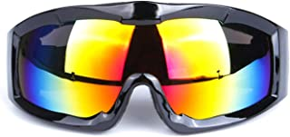 Aooaz Man'S And Woman'S Professional Single Layer Windproof Spherical Lens Ski Glasses