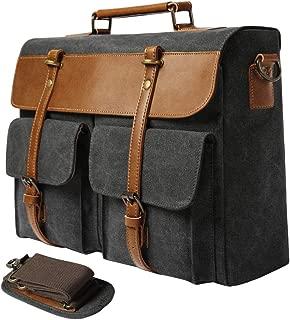 S-POINT Messenger Bag for Men Women Water Resistant Vintage 15.6 Inch Laptop Briefcases Business Travel Work Satchel Crossbody Shoulder Bags