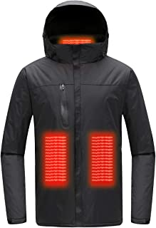 Mount Marter heated jackets for men , USB heated ski jackets with Three Heating Modes, Waterproof Black ski jackets for athletes and operators