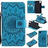 Qiaogle Téléphone Coque - PU Cuir Rabat Wallet Housse Case pour Huawei ShotX/Honor 7i (5.2 Pouce)...