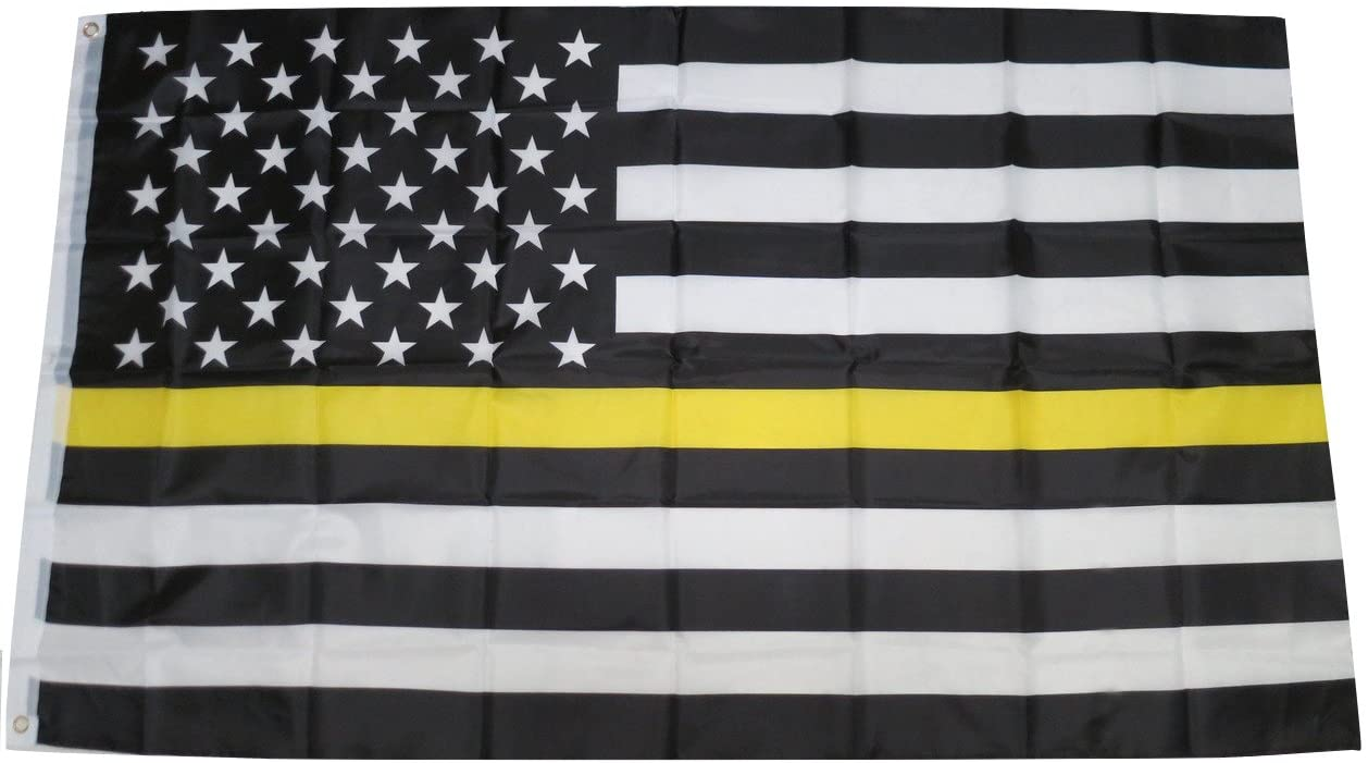 TrendyLuz Flags Long-awaited Thin Store Yellow Line Dispatchers Emergency Truc Gold
