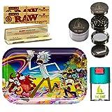 THE BOAT Kit para Fumar - Bandeja para Liar Rick and Morty 27,5cm x 17,5cm + Raw...