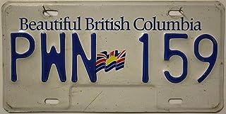 British Columbia Nummernschild KANADA Kennzeichen // Auto   Schild aus Nordamerika // CANADA License Plate   Metallschild