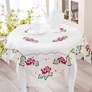 JFFFFWI The Style of The Continental Embroidered Ribbon pad Coffee Table Mat Water - with a Diameter of 175 cm (69 Customs)