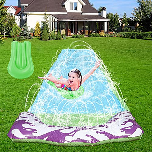 Lawn Water Slide for Kids - 15.75ft Long Slip and Slide, Kids Water Slide with 1 Bodyboard, Slip n Slides for Kids and Adults, Kids Slide, Pool Slide, Summer Toy, Backyard Waterslide with Sprinkler