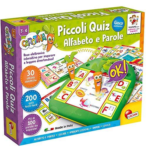 Lisciani Giochi- Carotina Piccoli Quiz Alfabeto e Parole Gioco, Multicolore, 80014