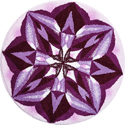 Grund Designer Series Accent/Bath Rug, Purple Rain, 48-Inch by 48-Inch, Purple