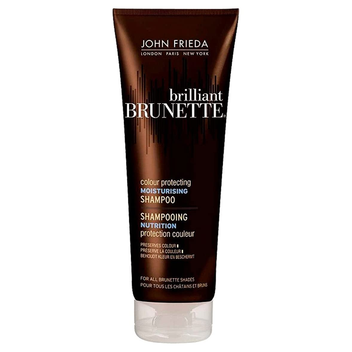 気づかない余裕があるストッキングJohn Frieda Brilliant Brunette Multi-Tone Revealing Shampoo - Moisturising (250ml) ジョン?フリーダ鮮やかなブルネットマルチトーン明らかシャンプー - 保湿( 250ミリリットル) [並行輸入品]
