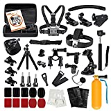 LyStar 51-in-1 Gopro アクセサリー セット アクションカメラ撮影用パーツ 日本語取説付属 for Gopro Hero 7/6/5/4/3+/3/2 Black Silver Session HERO+ LED SJCAM SJ7 SJ6 SJ5 SJ4