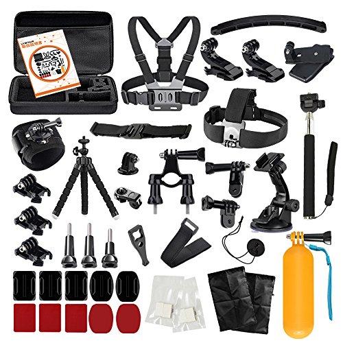 LyStar 51-in-1 アクションカメラ アクセサリー セット 撮影用パーツ 日本語取説付属 for Gopro Hero 10/9/8/7/6 Black Silver Session HERO+ LED SJCAM SJ7 SJ6 SJ5 SJ4 に対応