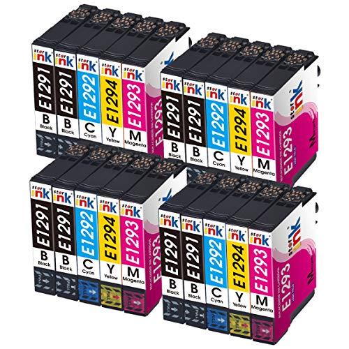 Starink 20 cartuchos de tinta compatibles con Epson 129XL para Epson Workforce WF-3010DW WF-3520DWF WF-3530DTWF WF-3540DTWF WF-3010 WF-3520 WF-3530 WF-3540 WF-7525 WF-7515 WF-7015