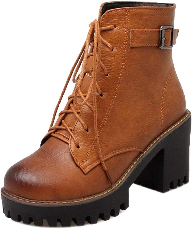 Unm Women Comfort Block Heel Short Boots