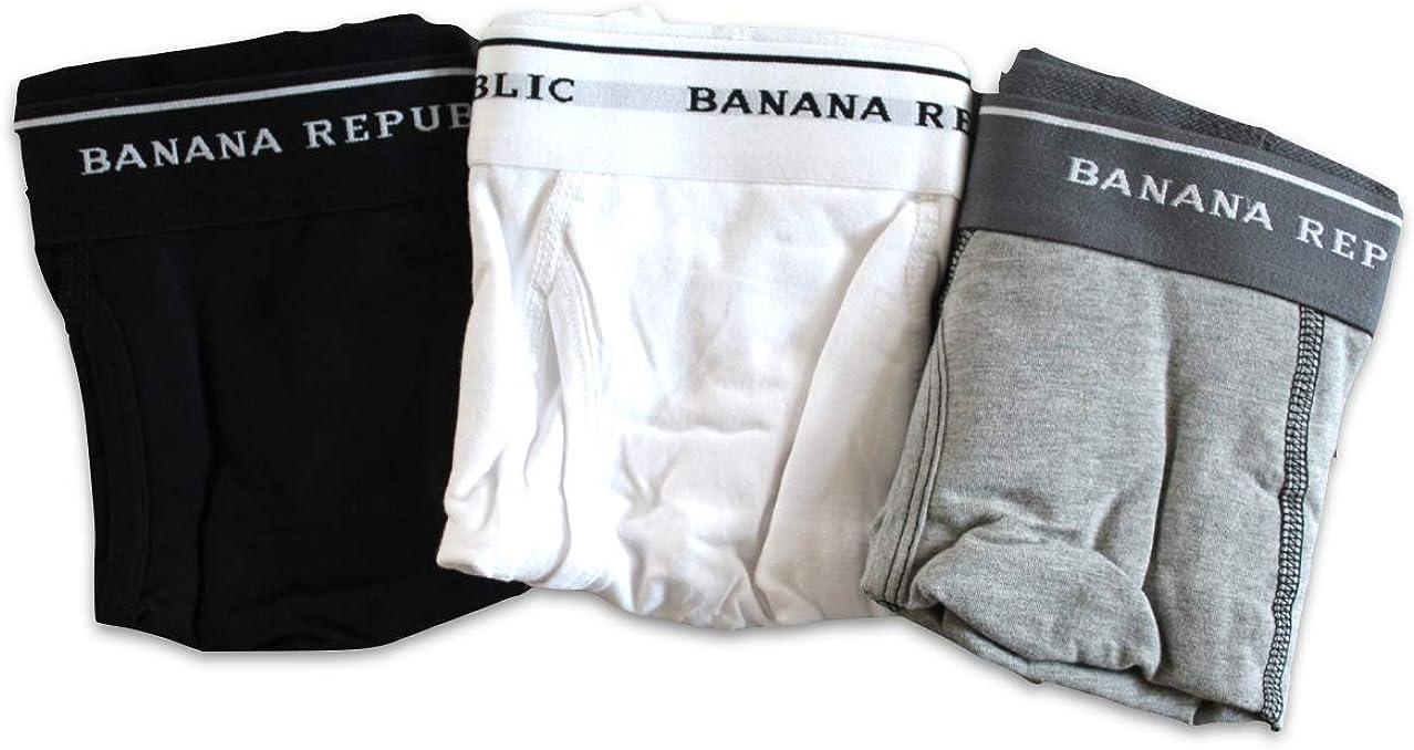Banana Republic Lot of 3-Pair Men's Knit Boxer Briefs Large Mens 3 Pack Brief Underwear Set