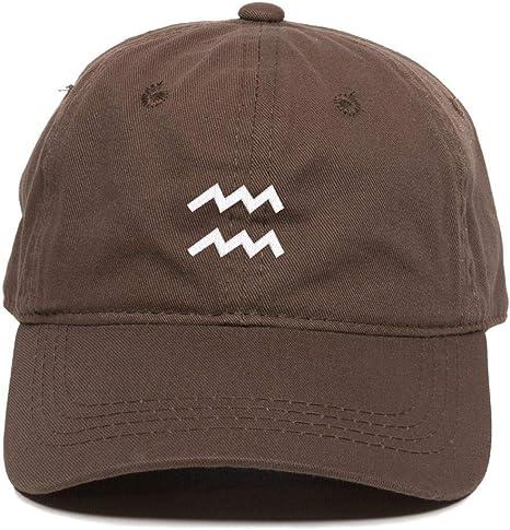 Aquarius Zodiac Sign Adjustable Snapback Hats Unisex Cotton Baseball Caps