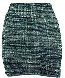 Guru-Shop Minirock, Strickrock, Ethnorock, Damen, Grün, Baumwolle, Size:36, Röcke/Kurz Alternative Bekleidung