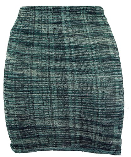 Guru-Shop Minirock, Boho Strickrock, Ethnorock, Damen, Grün, Baumwolle, Size:36, Röcke/Kurz Alternative Bekleidung