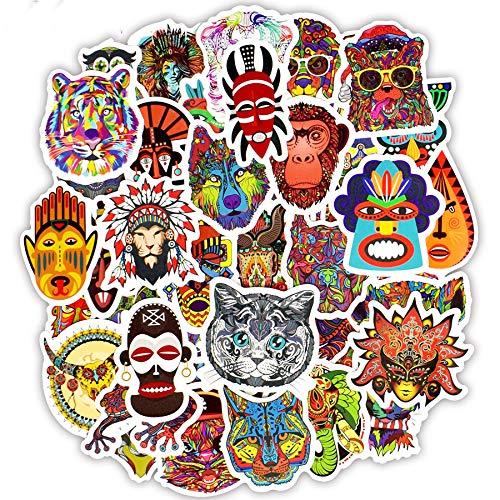 Inveroo 50 Pcs Totem Sticker Animal Graffiti Tribal Tattoo Ethnic Sticker Zu DIY Laptop-Skateboard-gepäck Guitar Car Motorrad Helm