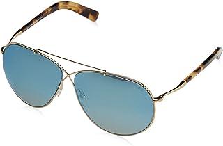 56371f993a Tom Ford Women s Eva Aviator Sunglasses in Shiny Rose Gold Blue Mirror  FT0374 28X 61