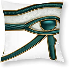 Decorative Pillow Covers Egyptian Eye of Horus Throw Pillow Case Cushion Cover Home Decor,Square 16 X 16 Inches