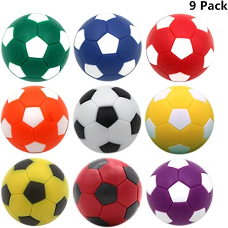 OuMuaMua 9pcs Foosball Table Balls 1.42 Inch Table Soccer Balls for Foosball Tabletop Game Foosball Accessory Replacements Multicolor