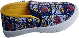 BRV boys pity shoes in yellow printed 6
