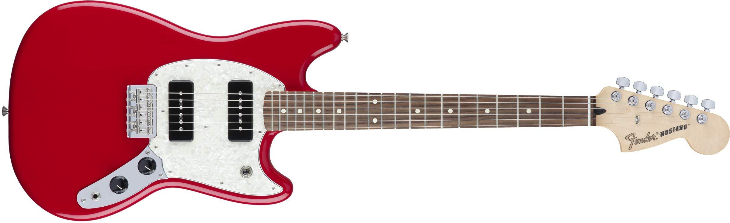 Cheap Fender Mustang 90 Short Scale Electric Guitar - Pau Ferro Fingerboard - Torino Red Black Friday & Cyber Monday 2019