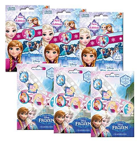 Craze 54988 – Mini Slap Snap e ChArmband Disney Frozen, 3 sacchetti per foilbags, colori assortiti