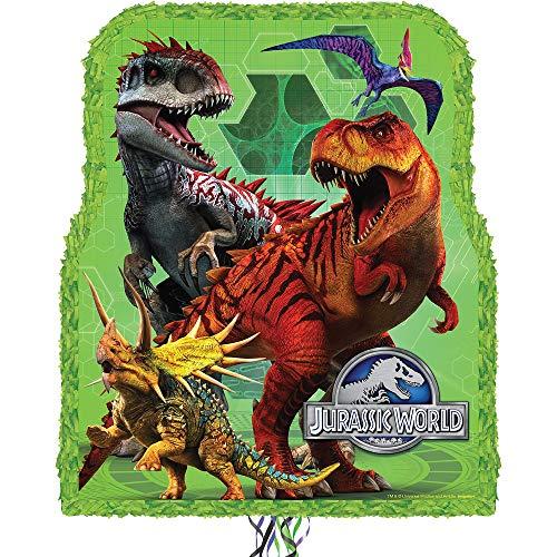 "Ya Otta Pinata Jurassic World Pull String Pinata Party Activity Supplies 2lb Filler Capacity 17.5"" x 22"" x 3"""