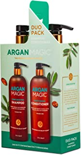 Argan Magic Shampoo and Conditioner Duo for Dry and Damaged Hair (32 oz)