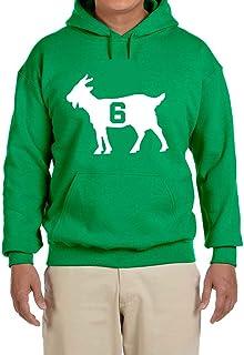 Peg Leg Shirts GREEN Boston Russell Goat Hooded Sweatshirt