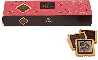 GODIVA Chocolatier Lady Godiva Biscuits, Dark Chocolate, 3.5 Ounce