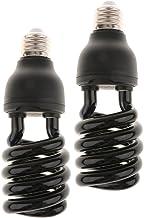 HOMYL 2 x 12V Ultra Violet Bulb Black Light CFL Insect-lured Lamp UV Money Detector E27 - Spiral Type - 30W