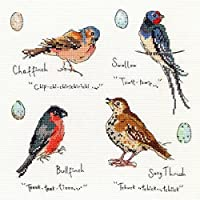 Bothy threads ボシースレッズ Garden Birds 3 ガーデンバード XMF3 日本語解説書付き 【正規輸入品】 クロスステッチ キット 【日本代理店品】