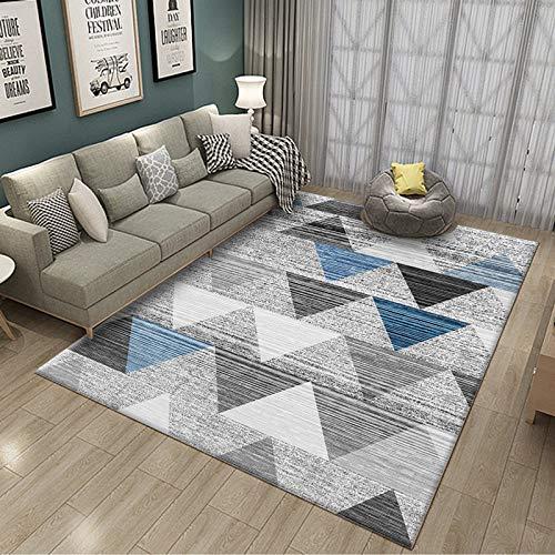 SN HUIPENG Northern Europe Modern Simplicity - Alfombras grandes para sala de estar, dormitorio, alfombra vintage, mostaza, antideslizante, alfombra pequeña, 80 x 120 cm