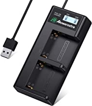 Powerextra Dual Battery Charger with USB LCD Display for Sony NP-F970 NP-F930 NP-F950 NP-F960 Battery