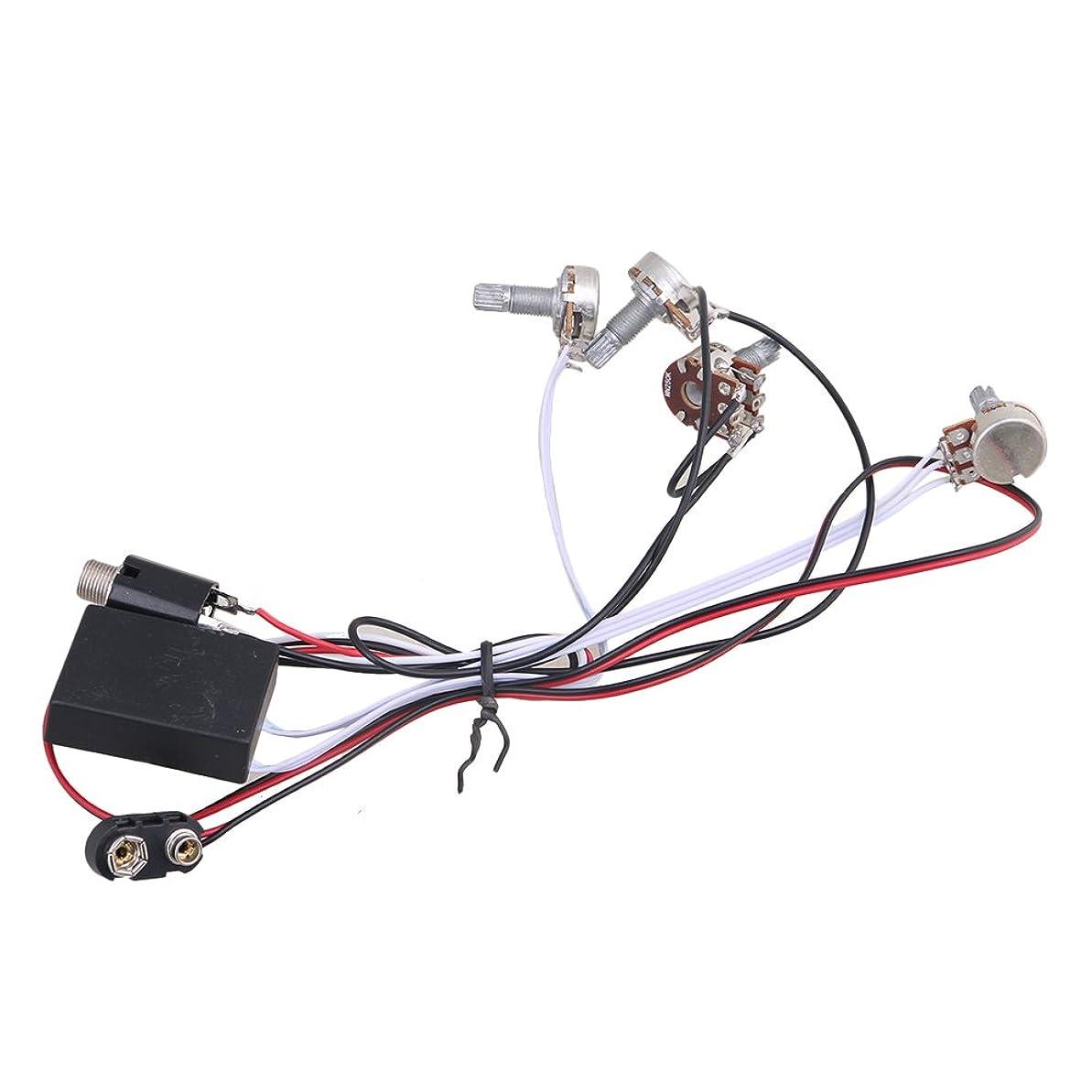 穏やかなバイオリン遊具Yibuy 2 Band EQ Preamp Circuit for Active Bass Pickup/Amplifying circuit 楽器用