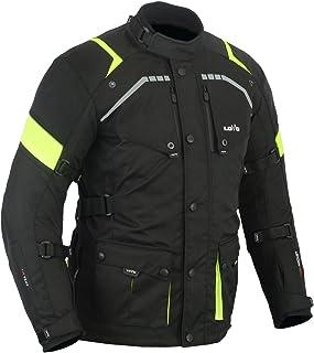 MBS MJ21 James Motocicleta Motocicleta larga chaqueta de viaje textil amarillo, XL