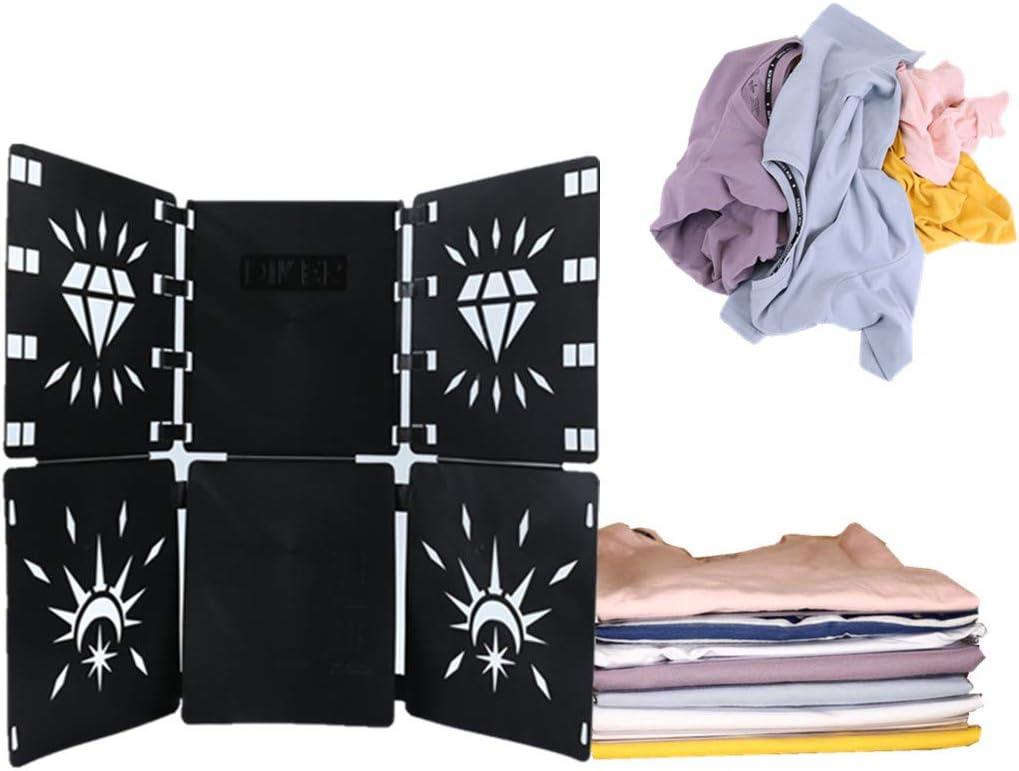 Doblador de Ropa Doblar la Ropa Tabla para Doblar la Ropa Placa Ayuda para Plegar la Ropa Camisetas Tablero para Plegar Ajustable para Ropa Camisas Ropa de ni/ños y Adultos Negro
