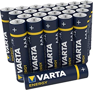 VARTA Energy AAA Micro LR03 Batterie (24er Pack) Alkaline Batterie   Made in Germany   ideal für Spielzeug Taschenlampe und andere batteriebetriebene Geräte