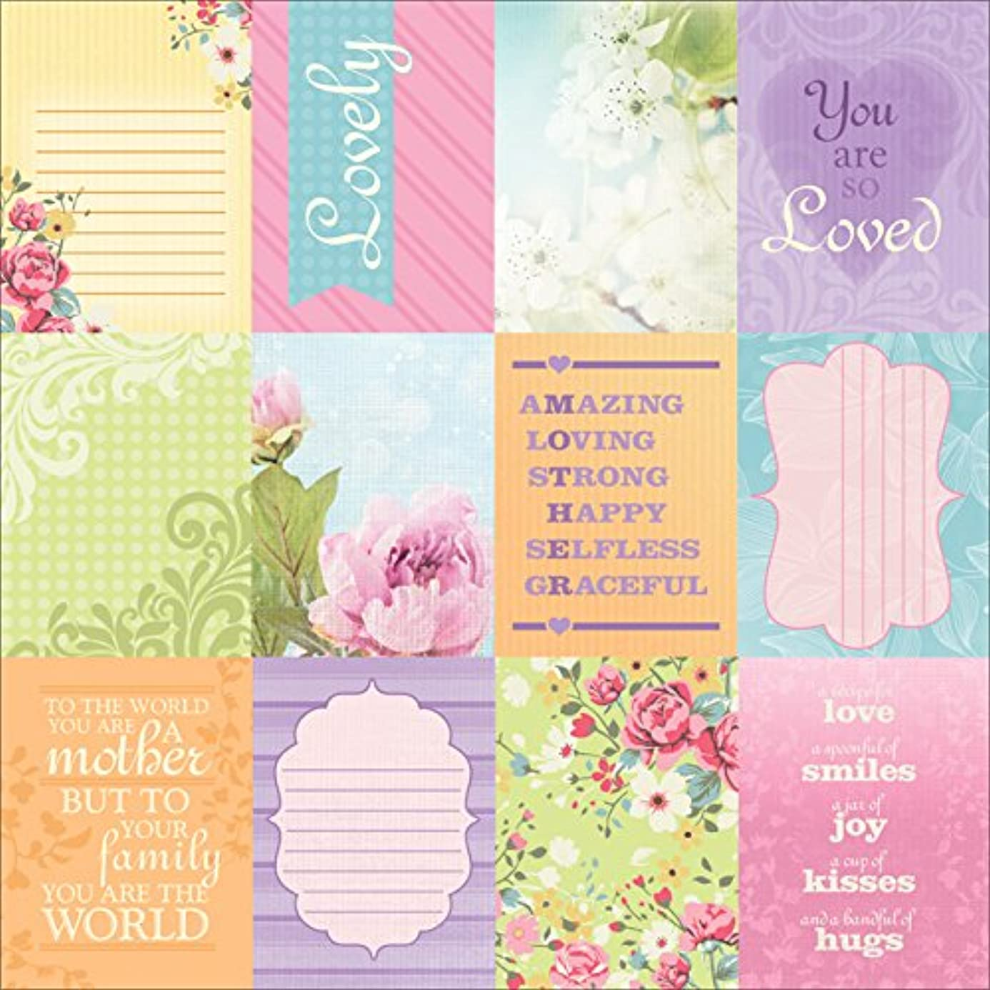 Paper House Productions P-0728E Mom Tags Paper, 12 by 12-Inch (25-Pack) ppo6258717