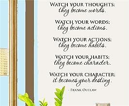 pegatinas de pared personalizadas Mira tus pensamientos se convierten en palabras para la sala de estar