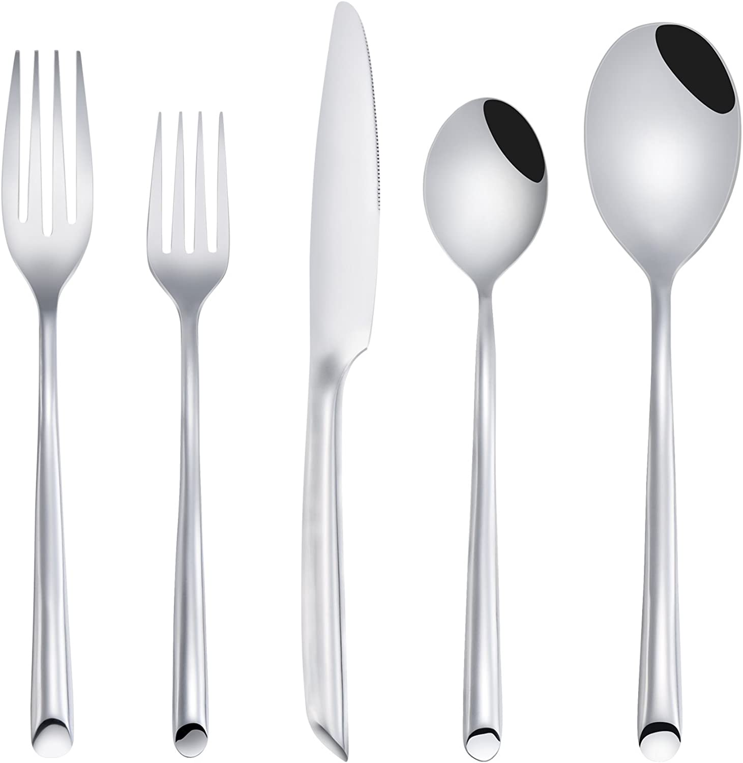 Deacory Flatware Set Satin Finish Stainless Steel Forged Wave with 20 Piece for Wedding Event Service for 4