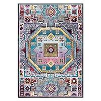 モロッコのペルシャ絨毯-寝室のベッドサイドの敷物/リビングルームのソファの敷物のお手入れが簡単-120×160cm/47×63 inch