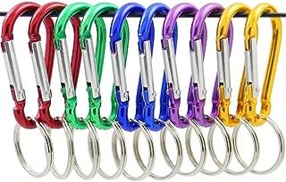 ZENDY Spring-Lock Aluminiam Gourd Shaped Aluminum Locking Carabiner Key Holder Hook Carry, Keychain for Home, Camping, Fishing, Hiking, 1.91 inch, Clip Lock, Hook Lock, Spring- Lock