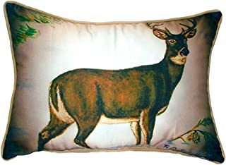"Betsy Drake SN236 Buck Small Indoor/Outdoor Pillow, 11"" x14"""