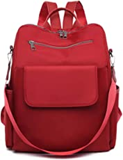 Typify Pu Leather Preppy Style Women Backpack (Red)